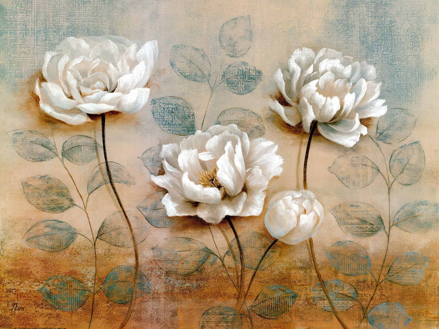 Canvas or Paper Print of White Flowers