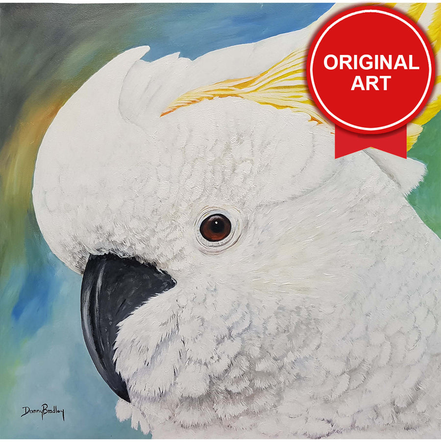 Painting by Danny Bradley of Cockatoo (Original)
