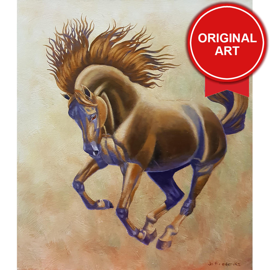 Painting of Horse by Jo Fredricks (Original)