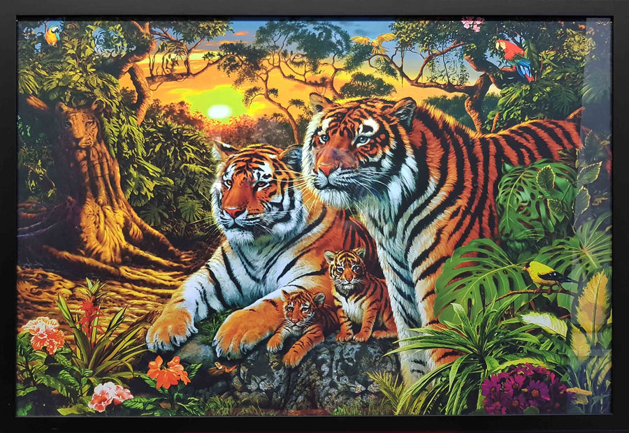 Framed Print of Find The 16 Tigers