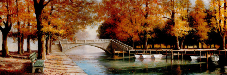 Canvas or Paper Print of Autumn Canal No.1