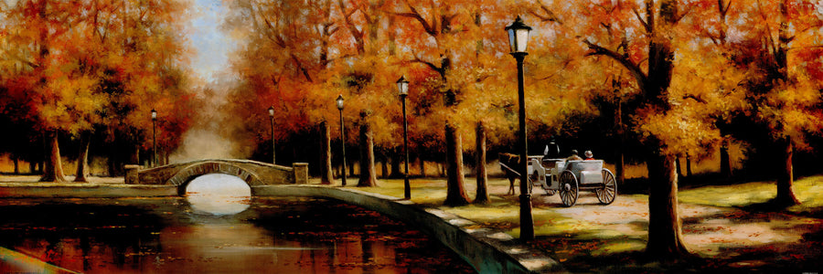 Canvas or Paper Print of Autumn Canal No.2