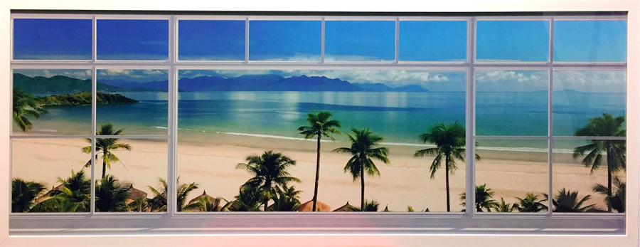 Framed Print of Beach Window No.2