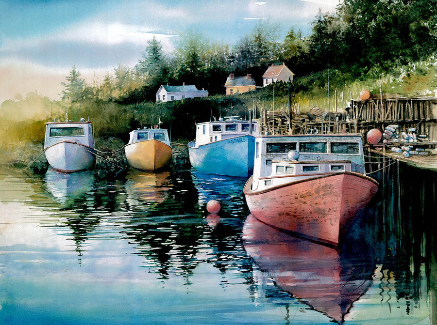 Canvas or Paper Print of Boats 01