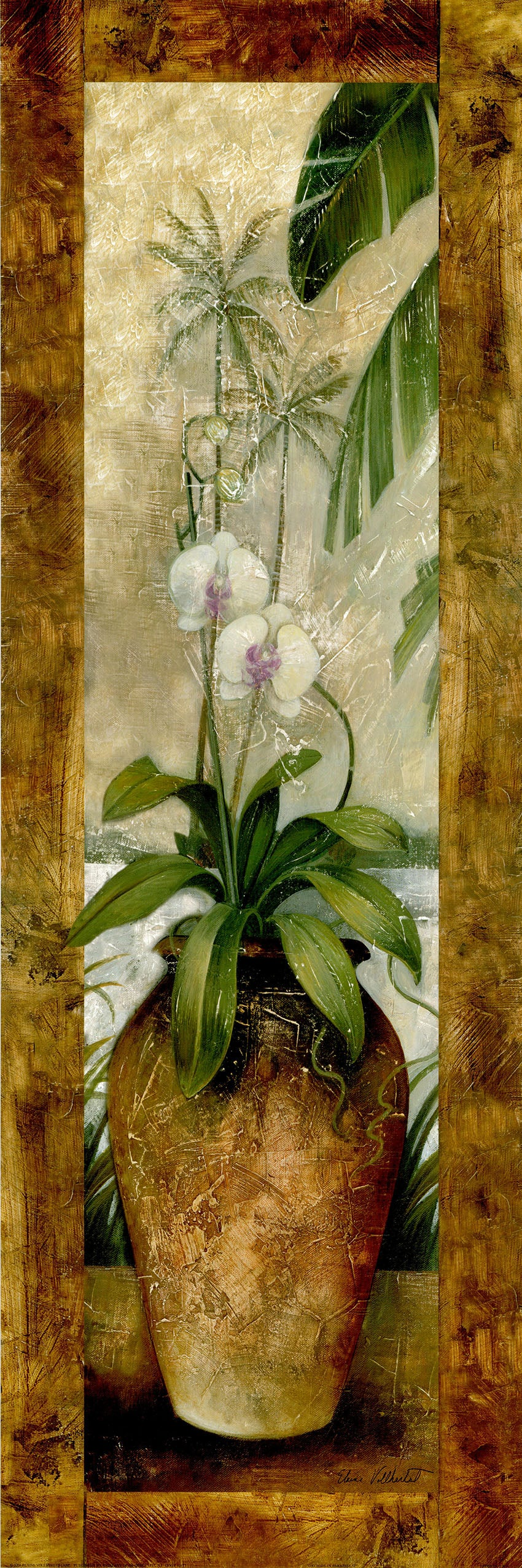 Canvas or Paper Print of Brown Flower Pot No.1