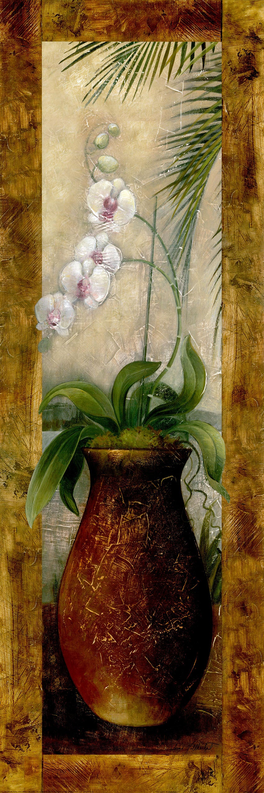 Canvas or Paper Print of Brown Flower Pot No.2