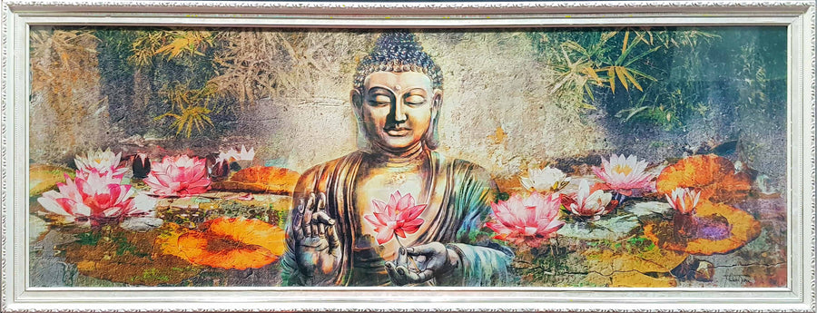 Framed Print of Buddha Lotus