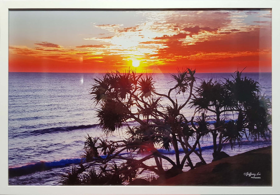 Framed Print of Burleigh at Sunset