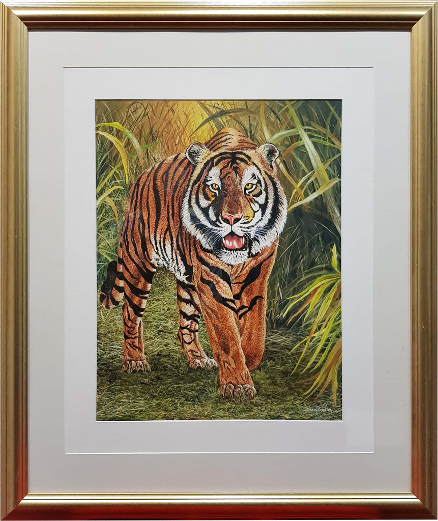Painting by Danny Bradley of Tiger (Original)
