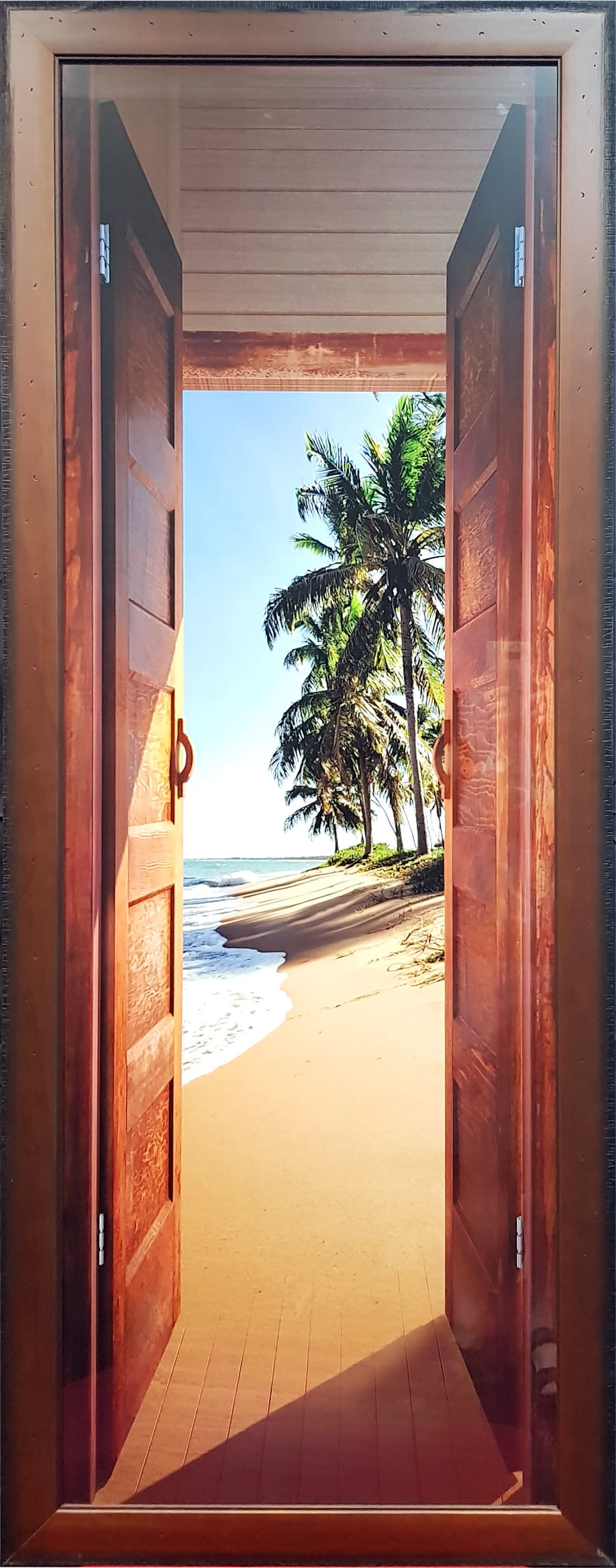Framed Print of Door to Beach