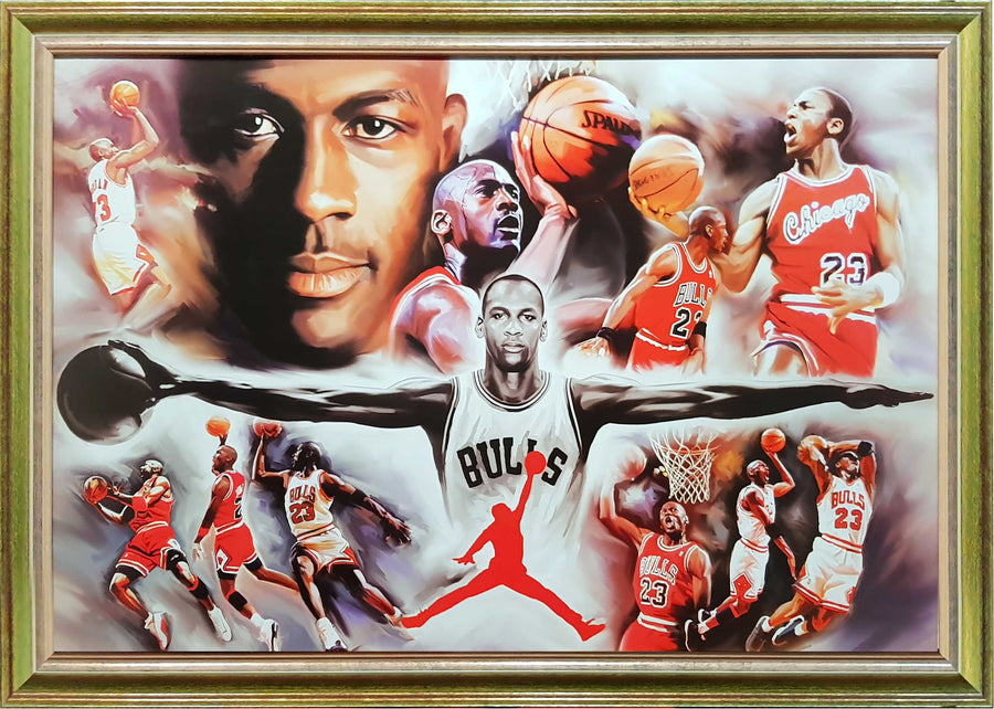 Framed Print of Michael Jordan Wings