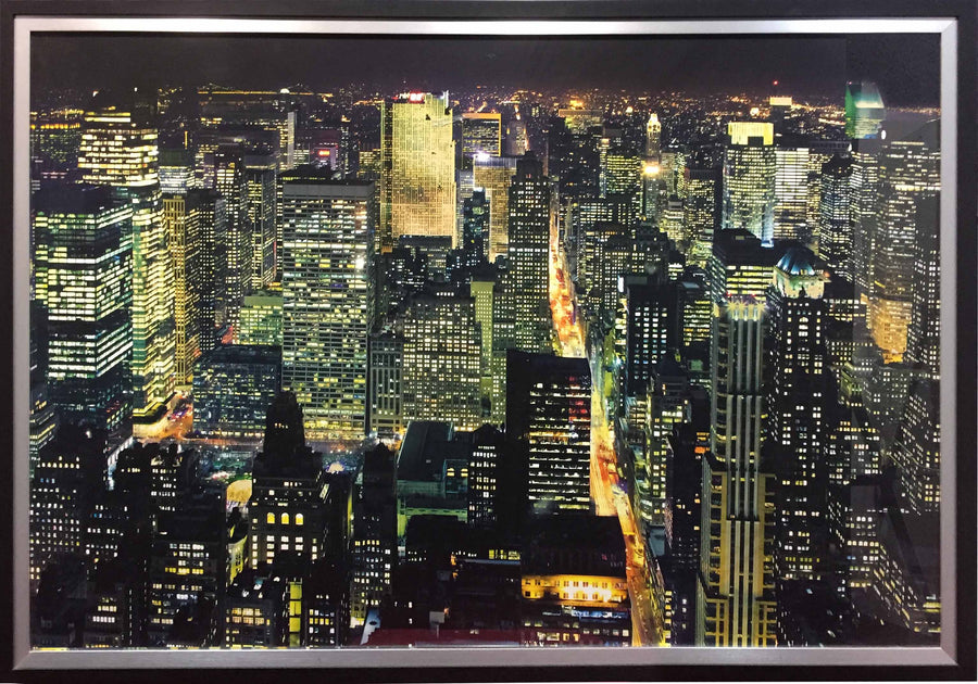 Framed Print of New York at Night