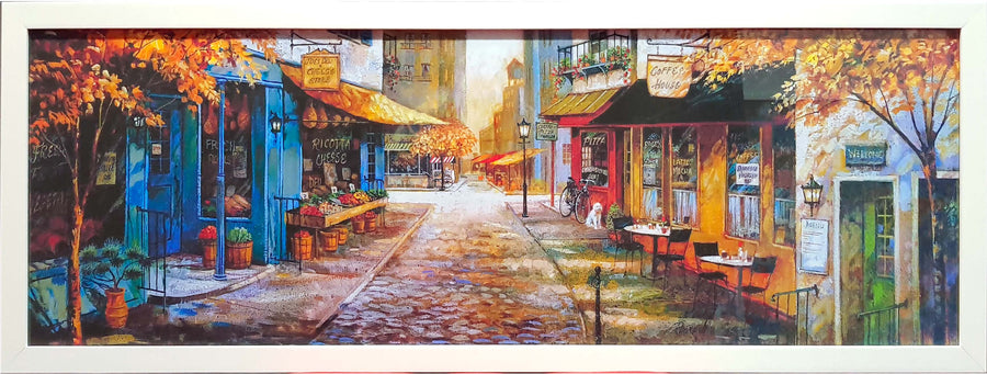 Framed Print of European Street Scene No.2