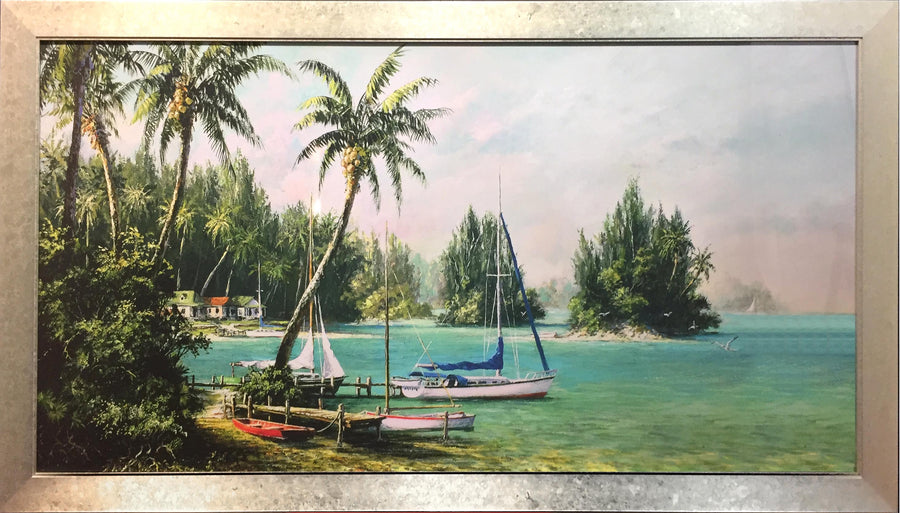 Framed Print of Sail Boat Cove