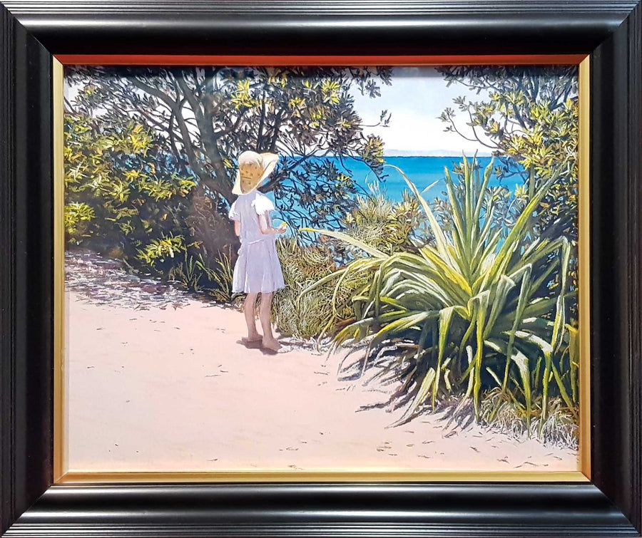 Framed Print of Girl at Noosa