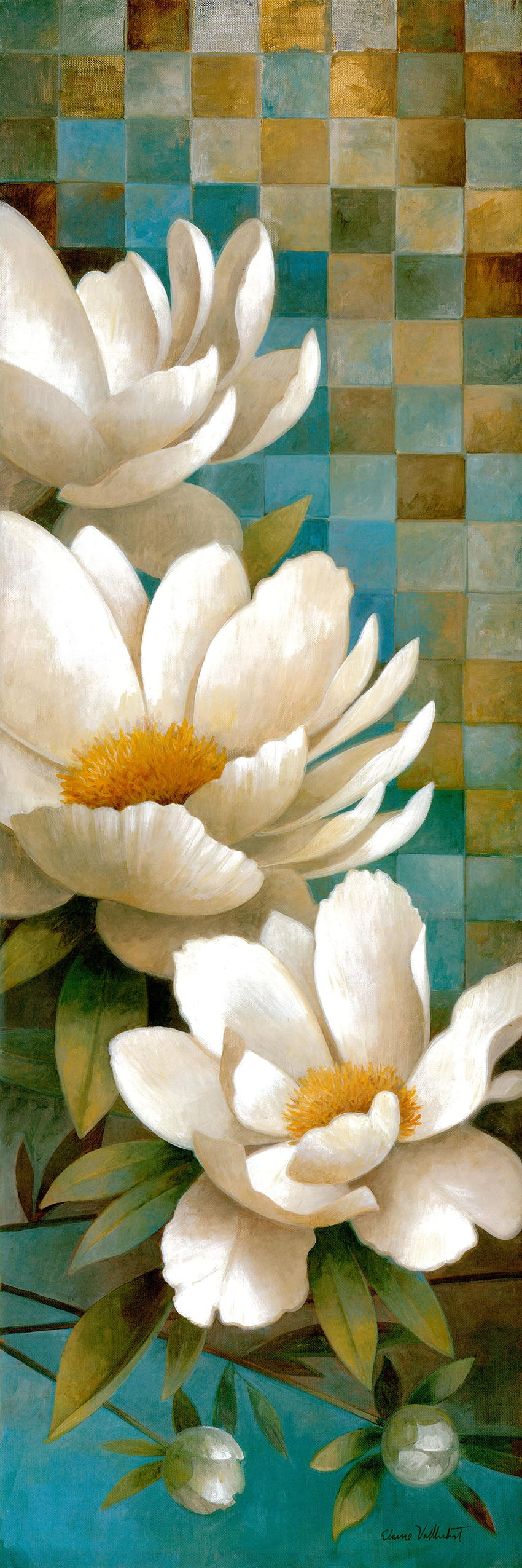 Canvas or Paper Print of White Daisy No.1