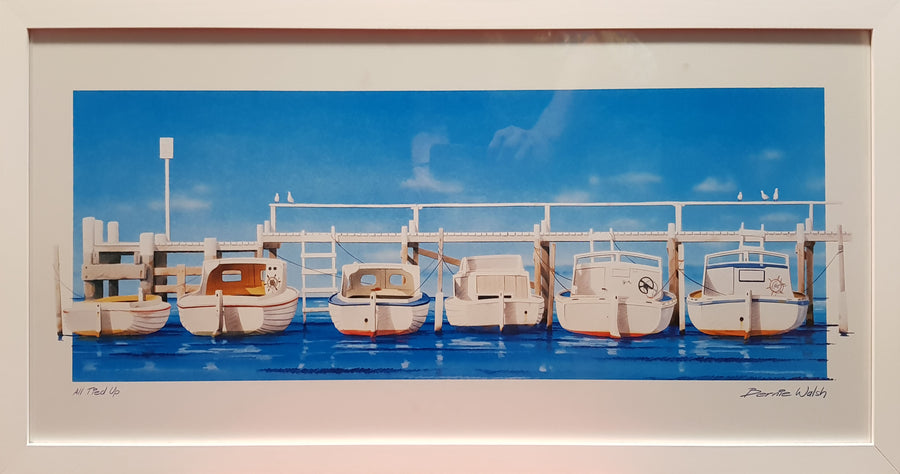 Framed Print of Boats All Tied Up Large