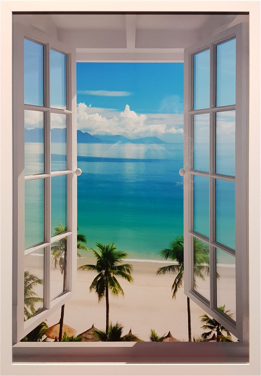 Framed Print of Beach Window No.1
