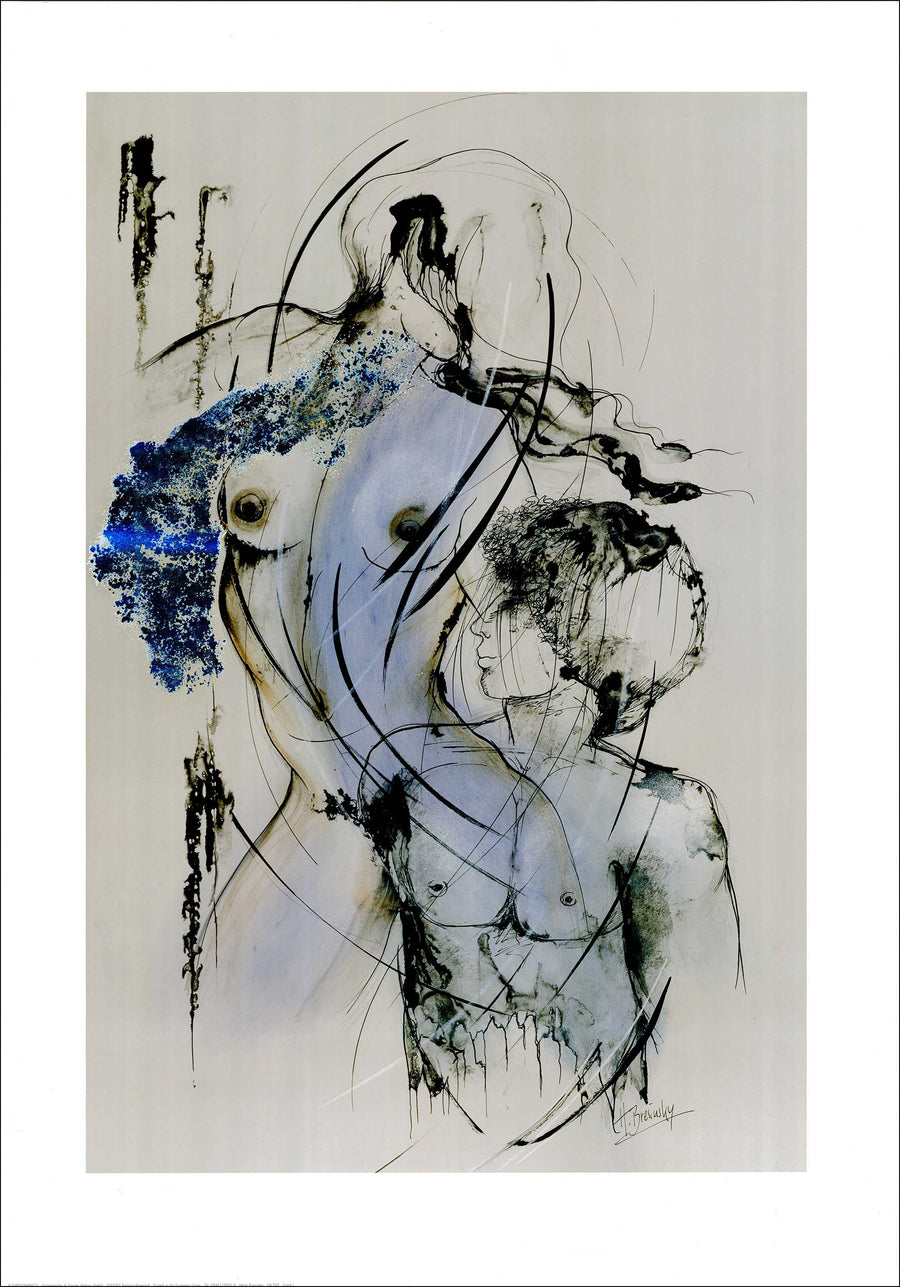 Canvas or Paper Print of Abstract Nude