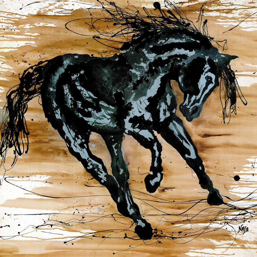 Canvas or Paper Print of Abstract Horse