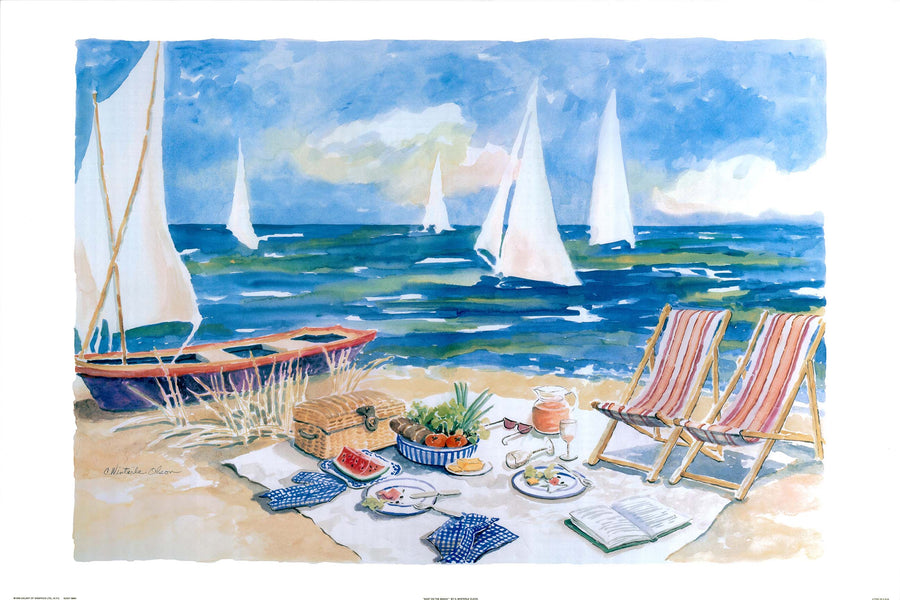 Canvas or Paper Print of Beach Picnic