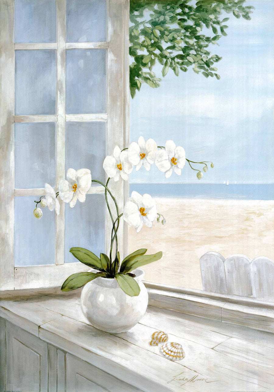 Canvas or Paper Print of Flowers by window No.2