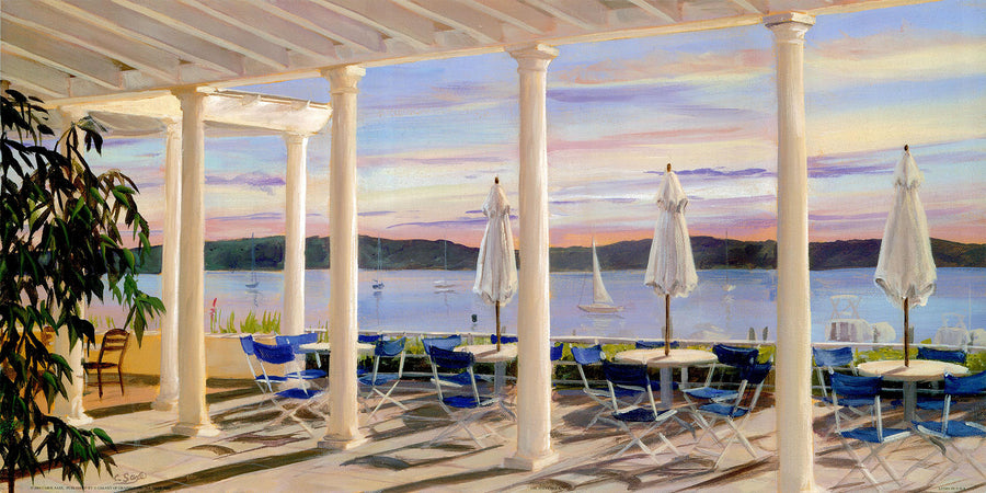 Canvas or Paper Print of Alfresco Dining No.1