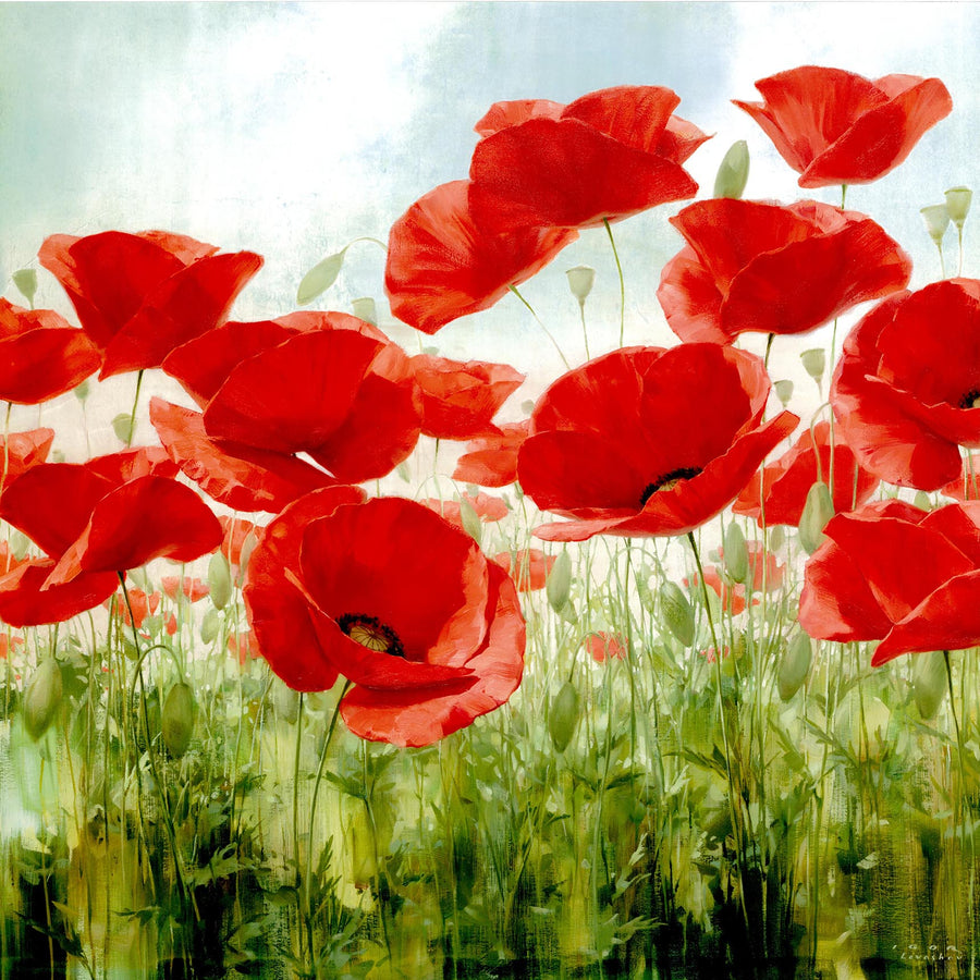 Canvas or Paper Print of Red Poppies No.1