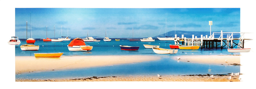 Canvas or Paper Print of Berniwash Boats