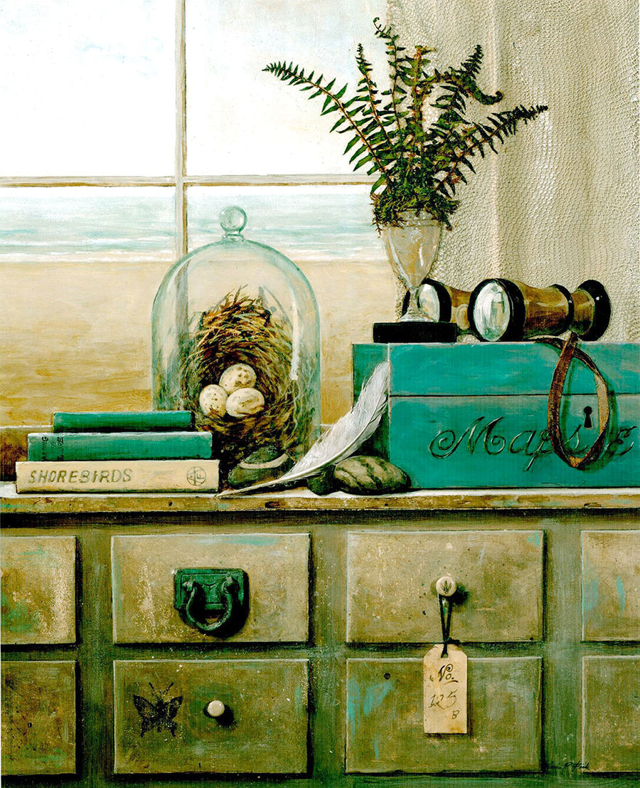 Canvas or Paper Print of Green Drawers No.1
