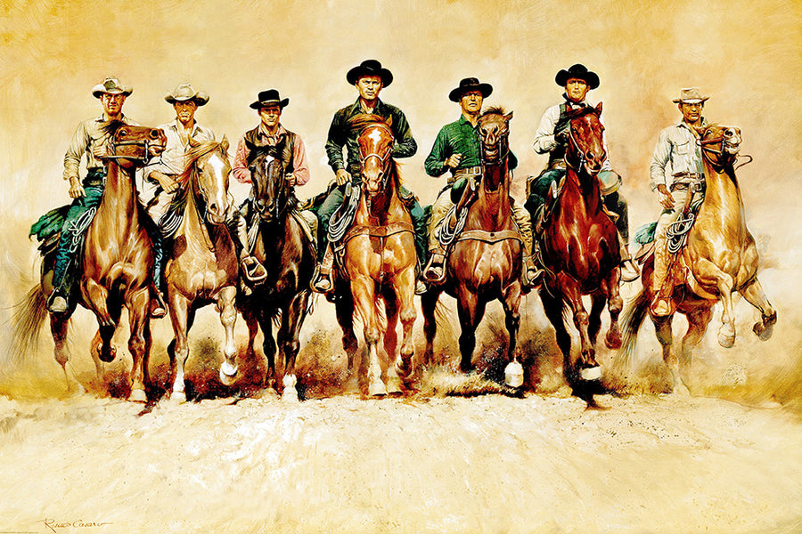 Canvas or Paper Print of Magnificent 7