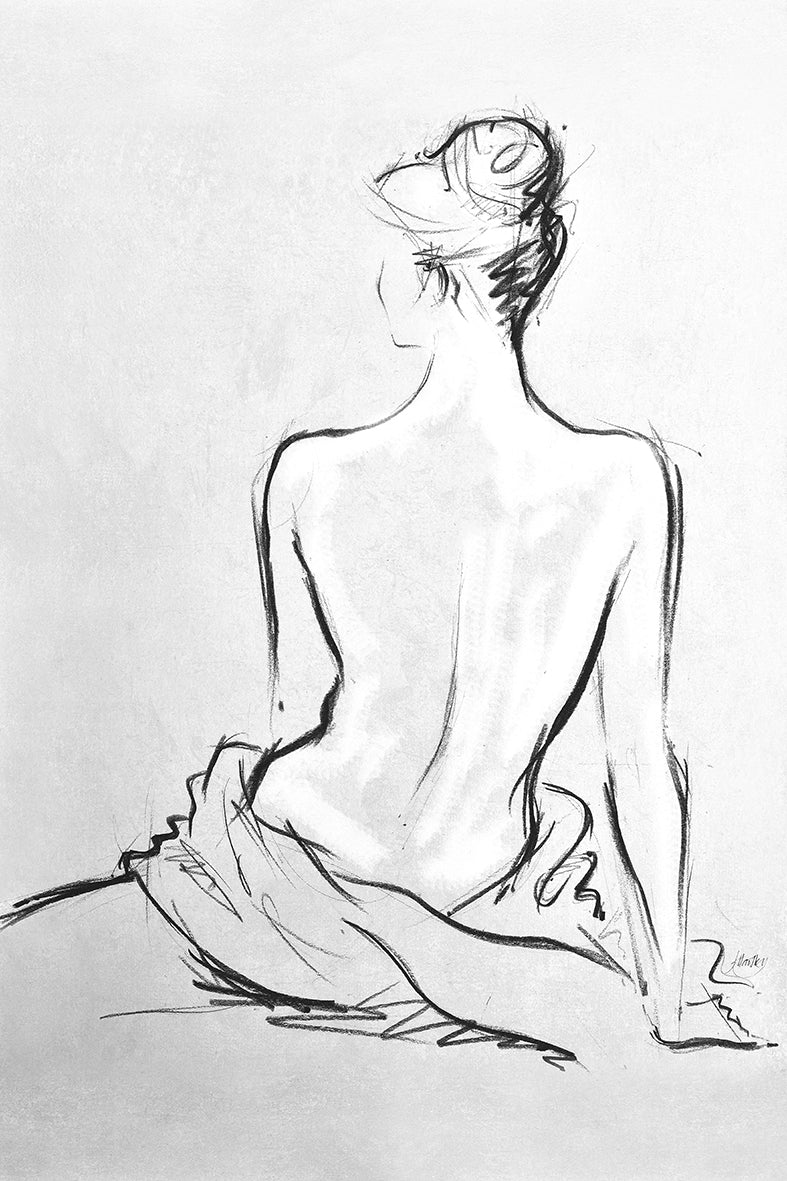 Canvas or Paper Print of Naked Lady No.6