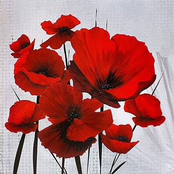 Canvas or Paper Print of Red Poppies No.2