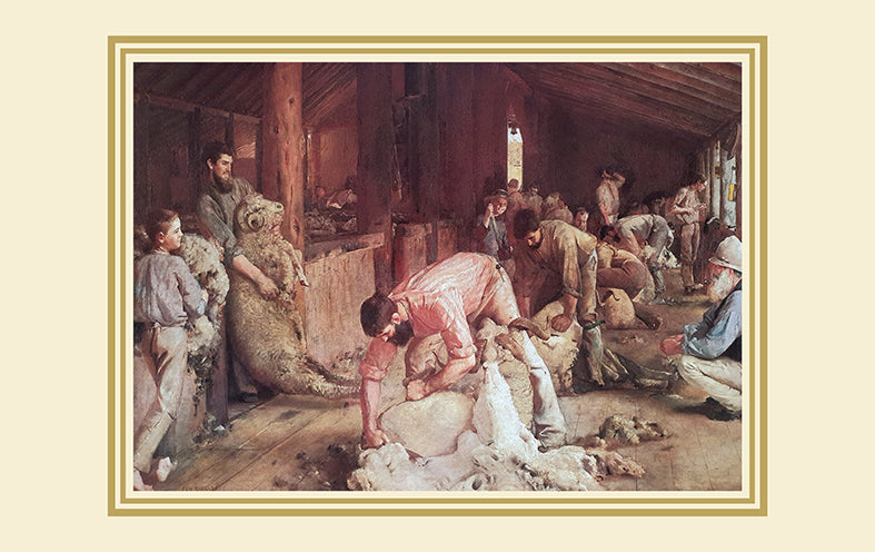 Canvas or Paper Print of Sheep Shearing No.2
