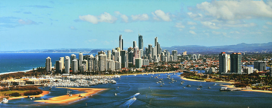 Canvas or Paper Print of Surfers Paradise No.2