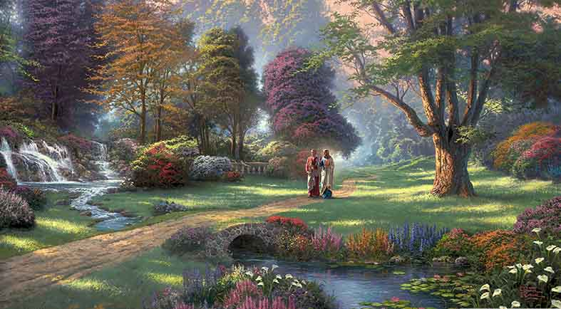 Canvas or Paper Print of Thomas Kinkade 02