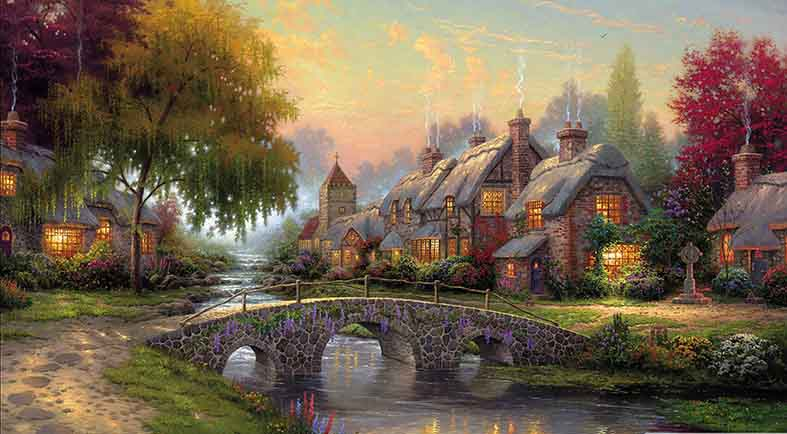 Canvas or Paper Print of Thomas Kinkade 03