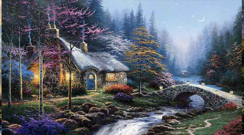 Canvas or Paper Print of Thomas Kinkade 05