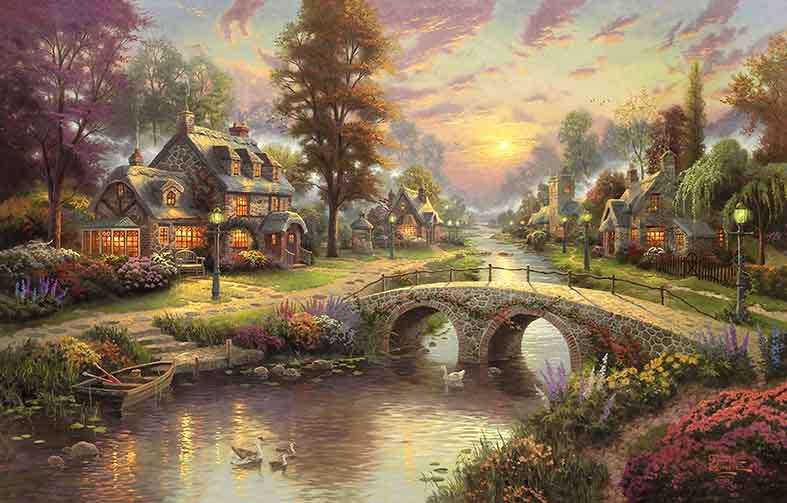 Canvas or Paper Print of Thomas Kinkade 06