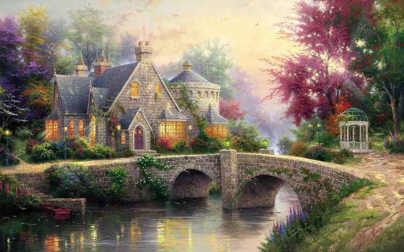 Canvas or Paper Print of Thomas Kinkade 07