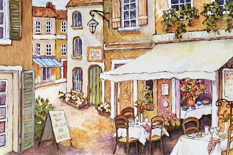 Canvas or Paper Print of European Restaurant No.22