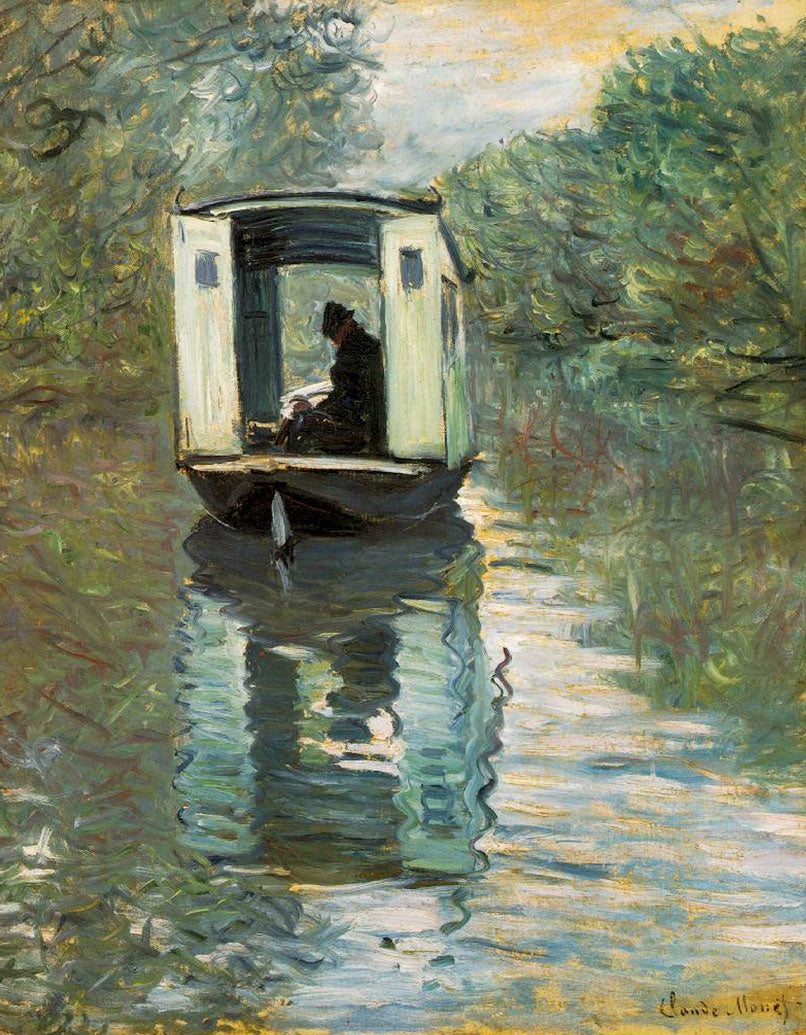 Atelier sur Seine by Claude Monet, 1876