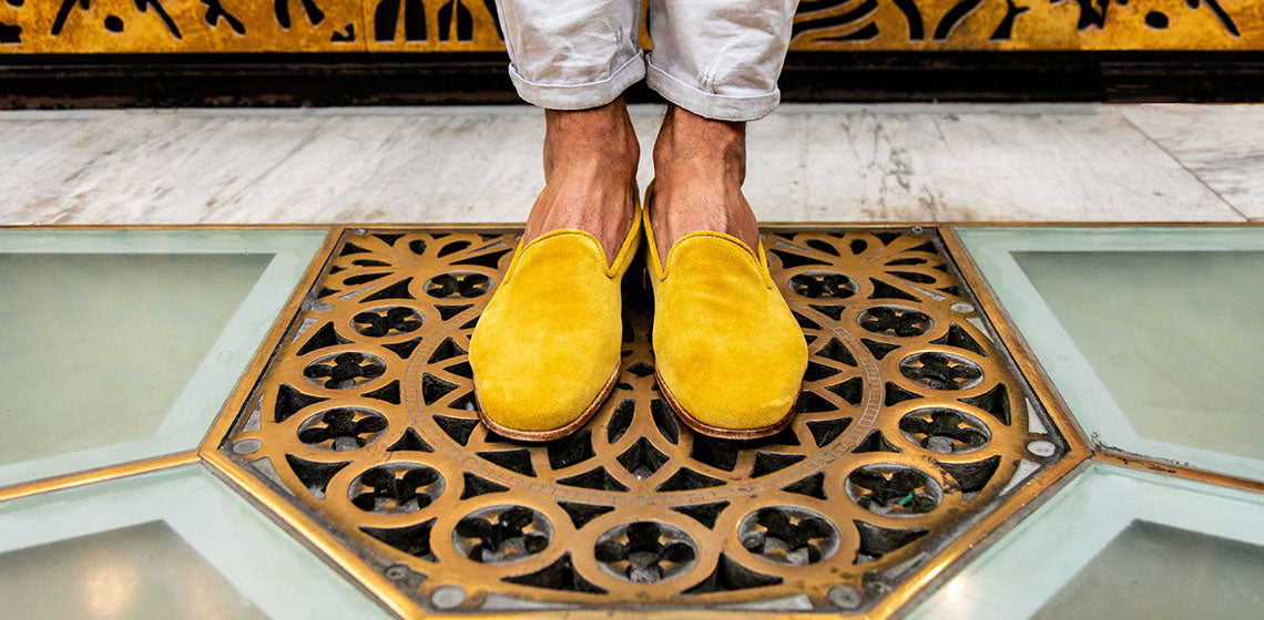corsini shoes, yellow shoes, yellow corsini shoe