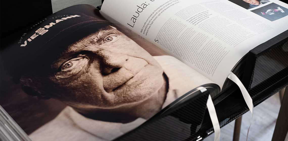 Niki Lauda portrayed on The Official Formula 1 Opus, Champion Edition