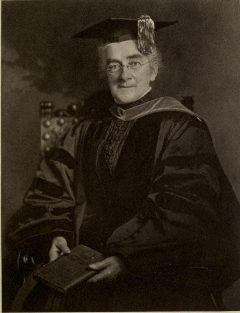 Ellen Swallow Richards upon receiving honorary Degree of Doctor of Science at Smith College (1910)