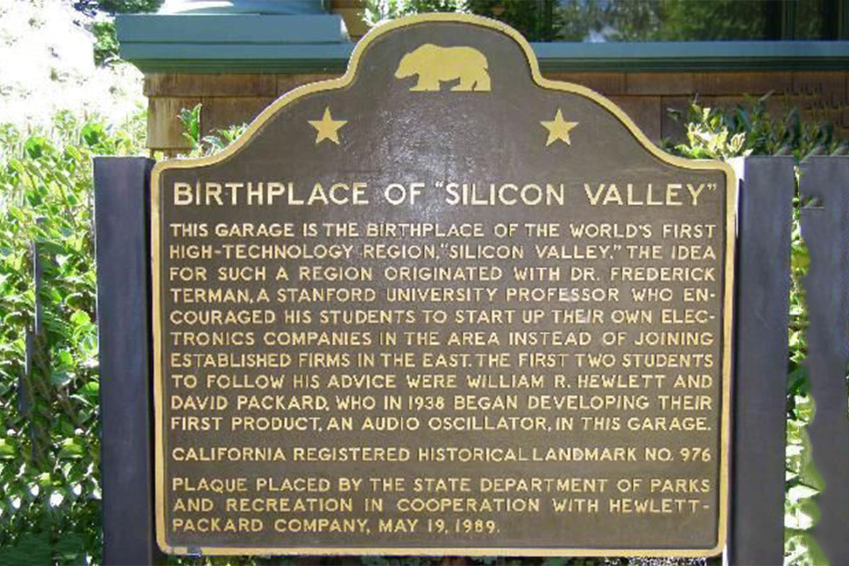 Hewlett Packard, HP, Silicon Valley birthplace, Silicon Valley, California