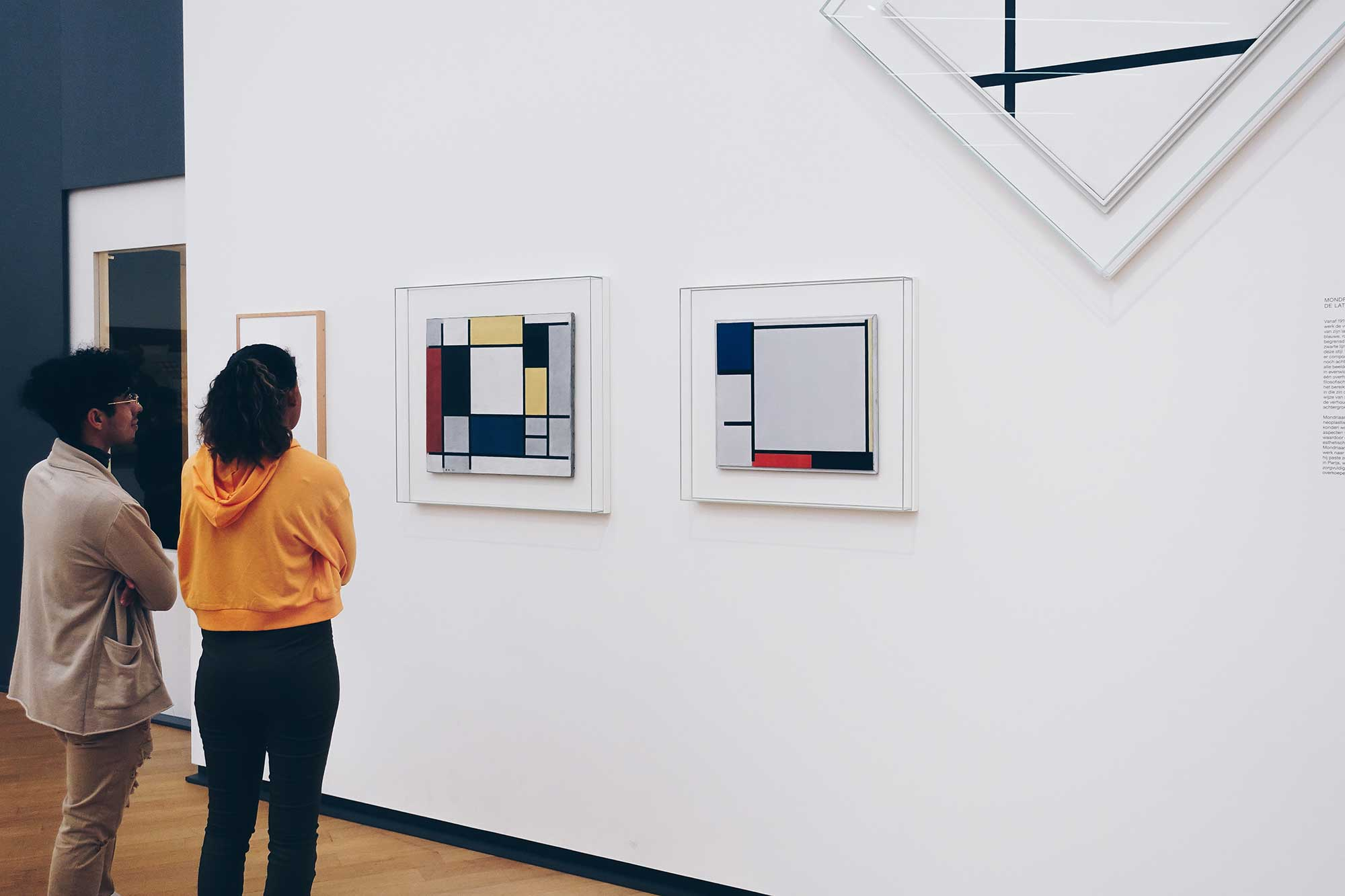 Often Piet Mondrian used the golden ratio to compose his paintings.