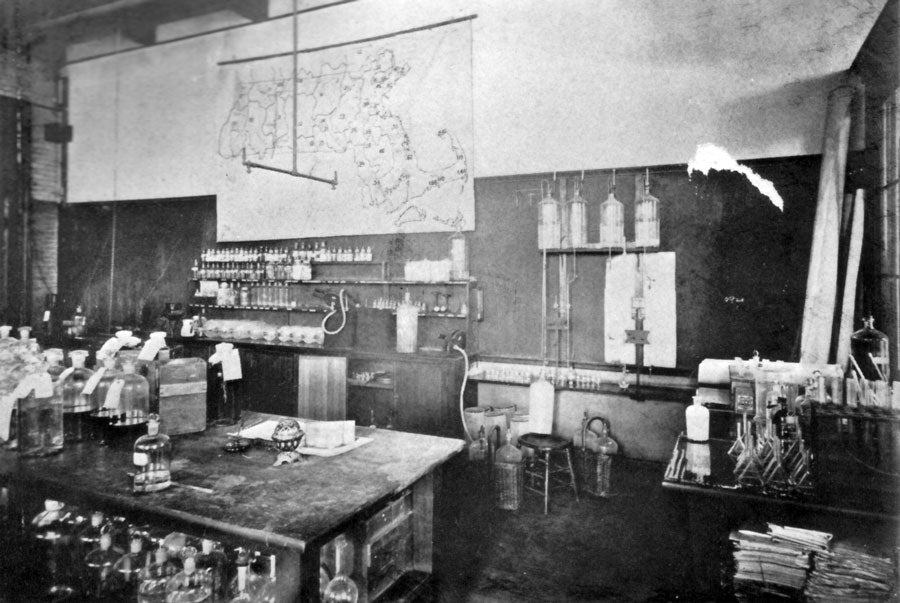 The Water Laboratory with the famous Chlorine Map