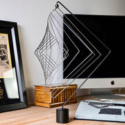 Square Wave Silver and Magnetic Stand