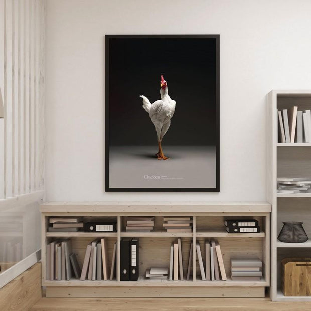 Chic!ken Modern English Game Fowl Poster - Atellani